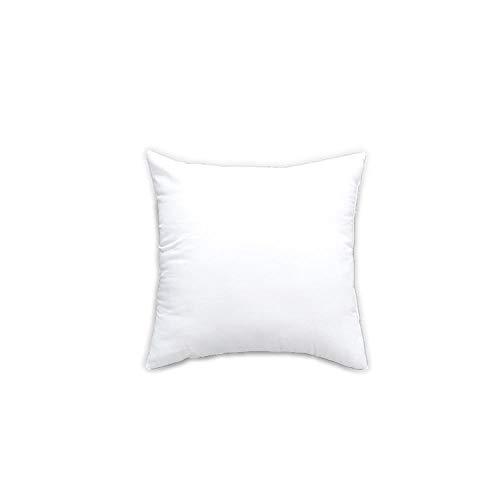 Almohadillas interiores de cojín de ropa de cama (paquete de 2) - Inserciones de almohada - Cubierta de mezcla de algodón - Relleno de cojín cuadrado Hollowfibre (conjunto de 2, blanco)-blanco_50x50cm