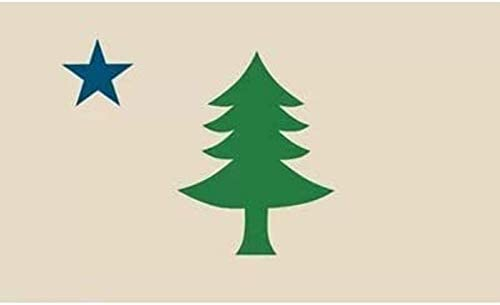 COLIBROX Sheff Large Maine Flag Banner 1901 1909 3x5FT State United States ME product image
