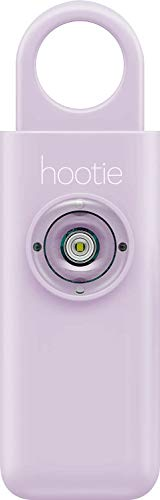 Hootie Personal Keychain Alarm for Women, Men, and Kids Protection- Hand Held Safety Siren for Self Defense and Emergency, Loud Pocket and Key-Chain-Safe Sound Device with Panic Strobe Light, Lavender