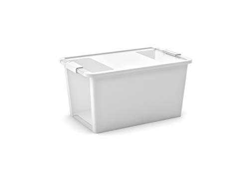KIS Aufbewahrungsbox Bi Box 40 Liter in weiß-transparent, Plastik, 55x35x28 cm