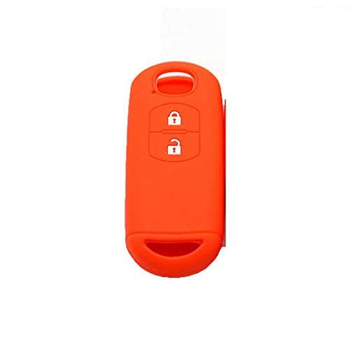 LZZCTB Cubierta de la llave del coche, llavero inteligente del silicón de la rana, cáscara protectora de la entrada sin llave, caja del botón, ajuste para Mazda 3 6 CX-7 CX-9 MX-5
