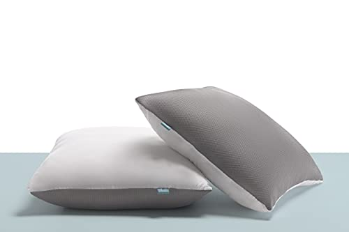 Naturalex | Titanium | Colchón 135x190 Cm Viscoelástico Premium 30 cm | Gratis 2 Almohadas Fibra 60x60 Cm Tejido 3D | Nueva Tecnología Soporte Blue Látex Firme | Efecto Anti-Presión Ergonómico