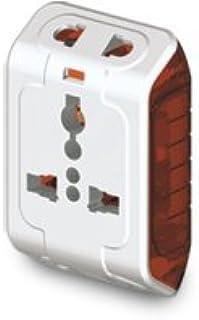 Goldmedal Curve Plus 202042 Plastic Spice 3-Pin Universal Travel Adaptor (White)