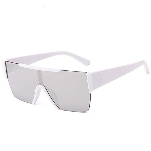 AMFG Gafas De Sol De Una Sola Pieza Sin Marco Tendencia De Moda Color Color Sunglasses Street Shooting Decoration Business Outdoor Gafas (Color : B, Size : M)