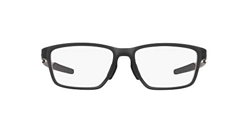 Oakley 0OX8153 Montature, Marrone (Satin Grey Smoke), 55 Uomo