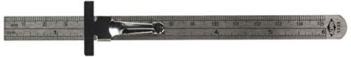 "Alvin, 1533, 6"" Stainless Steel Pocket Rule with Etched Metric Graduations"