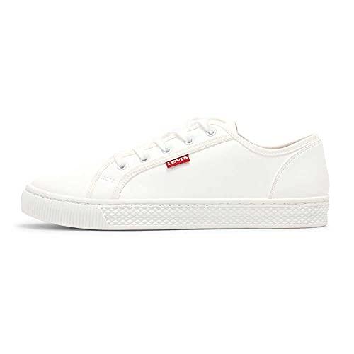 Levi's Malibu Beach S, Sneakers Mujer, Regular White, 38 EU