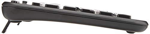 Logitech K360 Kabellose Tastatur, 2.4 GHz Verbindung via Unifying USB-Empfänger, 6 Multimedia-Tasten & 12 F-Tasten, Kompaktes & Leises Design, 3-Jahre Batterielaufzeit, Deutsches QWERTZ-Layout