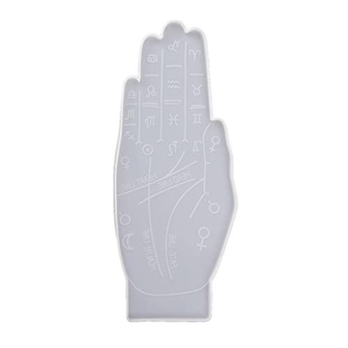 Wenyounge Palmistry Constellation Tray Epoxidharz Form Untersetzer Servierplatte Silikonform DIY Crafts Dekorationen Gusswerkzeug