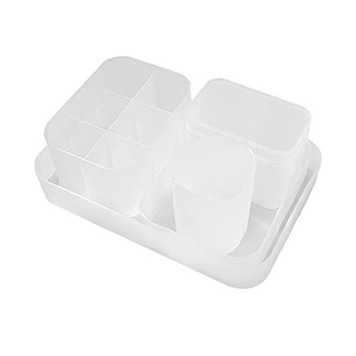 Storage Holder Makeup Organiser Holder Cosmetic Storage Box Adjustable Pen Diamond Organizer for Cupboard Kitchen Makeup 5PCS,Storage Box