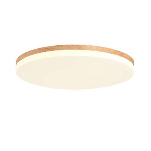 Azanaz Deckenleuchte Holz Bad Deckenlampe Wood mit warmweißem Licht in Holzoptik Deckenstrahler für Badezimmer Flur Küche Innenlampe mit LED-Licht in schickem Holz-Dekor (Rund/38 * 38cm/30W)