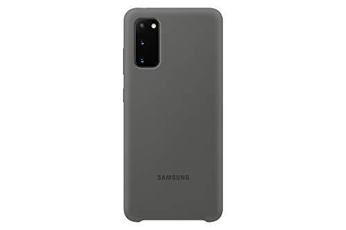 Samsung Silicone Smartphone Cover EF-PG980 für Galaxy S20   S20 5G Handy-Hülle, Silikon, Schutz Hülle, stoßfest, dünn & griffig, grau - 6.2 Zoll