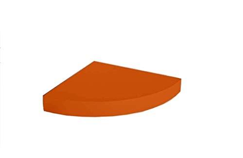 GICOS IMPORT EXPORT SRL Mensola angolare da Parete pensile scaffale in Legno MDF da Muro Colore Arancione 24 * 24 * 4 cm DOU-789519