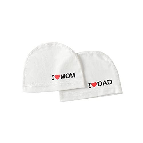 FOMAISELF Gorro de algodón para recién nacido, para bebé, niña, turbante, 2 unidades