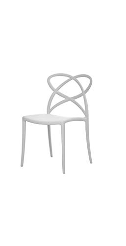 Fashion Commerce 04-FC907 Set di Sedie, Bianco, 46x49x81 cm, 4 sedie