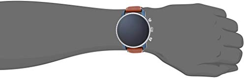 Fossil Men's Gen 4 Explorist HR Heart Rate Stainless Steel and Leather Touchscreen Smartwatch, Color: Brown (Model: FTW4016)
