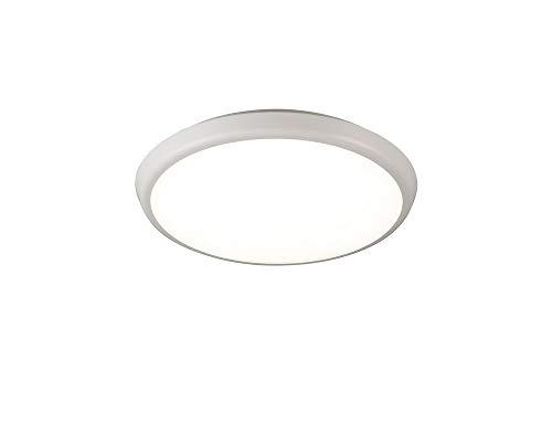 Plafón aplique redondo exterior MANTRA ANETO LED 18W - 4000K - 1400 LMS. Color blanco arena. 30cm de diámetro