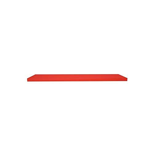 Prateleira em Madeira 100x25cm Natural Vermelha