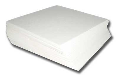 """Machine Embroidery Stabilizer Backing 100 Precut Sheets - Medium Weight Firm Tear Away 1.8oz - 8""""x 8"""" - Fits 4x4 Hoops"""