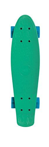 Schildkröt Unisex Jugend Pennyboard, Retro Skateboard Native, Green, 510701, Einheitsgröße