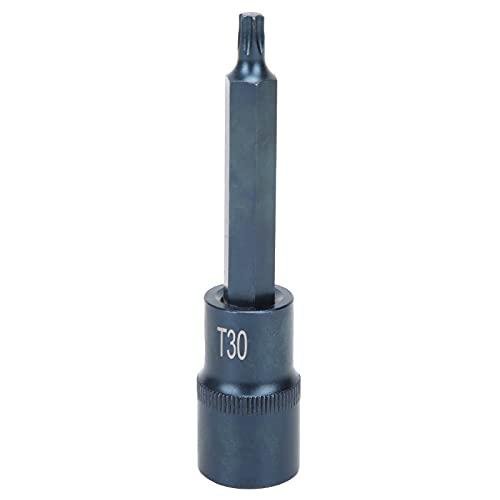 FTVOGUE Star Socket bit S2 Aleación de Acero Herramienta de Llave rápida eléctrica Unidad Cuadrada Blueing Blister 1 / 2X100XT30