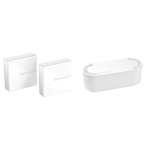 Meliconi Ghost Cube Cover Sistema Copricavi Componibile, Bianco & D-Line EU/CTUSMLW/SW, Raccogli Cavi, Scatola Portacavi, Organizzatore Cavi, Scatola Cavi, Scatola Nascondi Fili, Piccolo - Bianco