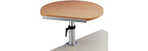 Maul 9301070 Ergonomisches Tischpult, Tragkraft 30 kg, Höhenverstellbar, Neigbar, Platte 60x51x2,2 cm (BxTxH), Buche, 1 Stück