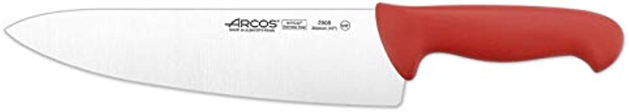 Arcos 10-Inch 250 mm 2900 Range Wide Blade Chef's Knife, Red