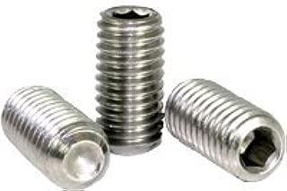 """3//16/"""" x 3//16/"""" Alloy Steel Hex Socket Drive Cup Point Grub Screws Black 97 Pcs"""