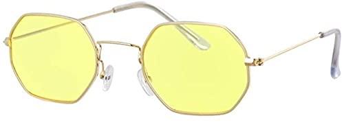 Hexagon Yellow Gafas de sol Gafas de sol Gafas de sol Espejo Mujer Oculos
