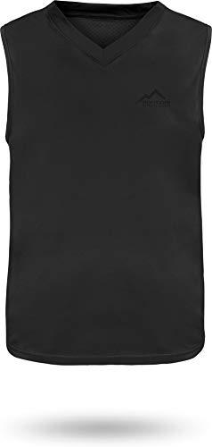 normani Sportswear Funktions-Sport Tanktop Unterhemd - Muscle-Shirt - für Herren mit Cooling-Material und Sonnenschutz-30+ Farbe Schwarz Größe 4XL