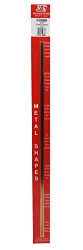 K&S Precision Metals 9886 Brass Channel, 3/16