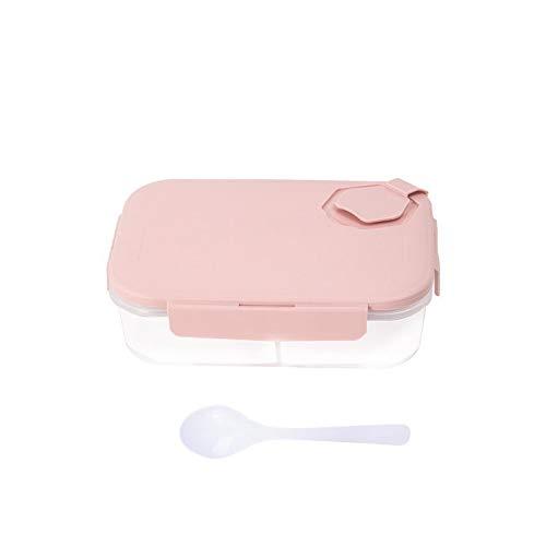 YAANGSI Caja de Almacenamiento para frigorífico, 4 Cajas de Almacenamiento para frigorífico de plástico Transparente (Color : Pink, Size : A)