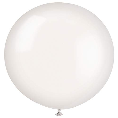 Unique Party-Globos Gigantes de Látex para Fiestas, Paquete de 6, color (linen white) (56722)