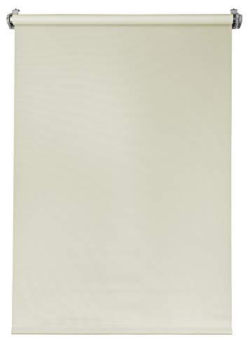 Deco4Me Seitenzugrollo 140x160 Creme verdunkelnd Verdunklungsrollo Klemmfix ohne Bohren