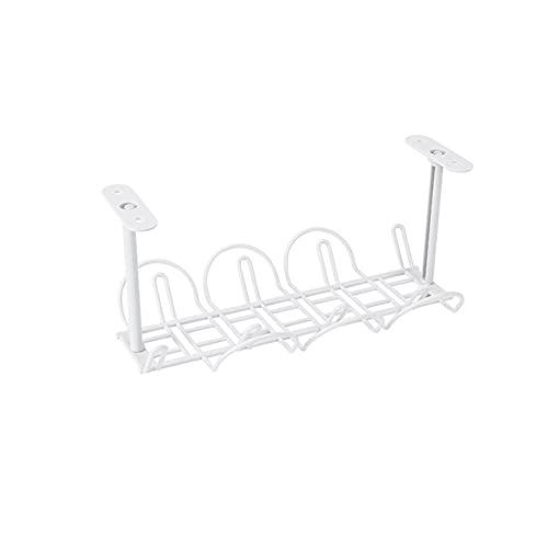 Bandeja de cables de escritorio bajo la mesa del cable de la mesa Organizador de salida de cables, soporte de cables, organizador de bandeja de alambre de cable de escritorio, para oficina de baño