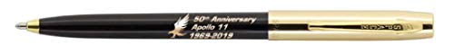 Fisher Space Pen Special Edition Apollo 11 50Th Anniversary Cap-O-Matic Space Pen, Chrome Cap (Gold/Black), S251G-50