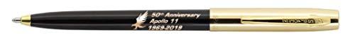 Fisher Space Pen Special Edition Apollo 11 50Th Anniversary CapOMatic Space Pen Chrome Cap Gold/Black S251G50