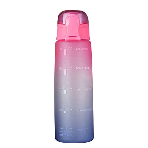 Botella de agua de 900 ml ligera y ambiental Bounce Cover Botella de agua con escala y boquilla de succión