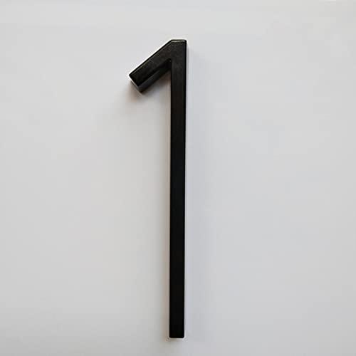 FYWWJ 127 mm Número de casa Flotante Letras Alfabeto de Puerta Grande Hogar Exterior 5 Pulgadas Números Negros Dirección 0-9, AB-Black-1