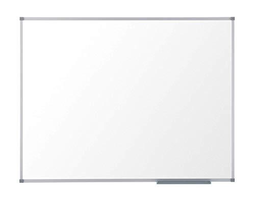 Nobo Basic Whiteboard, magnetisch, trocken abwischbar, Memoboard und magnetische Zeichentafeln, Silber-Aluminiumrahmen, 900 x 600 mm – Amazon Exklusiv
