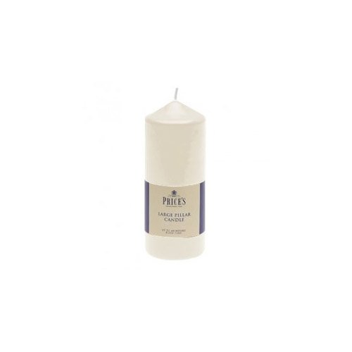 Price's Candles 6-Inch Pillar Candle, White