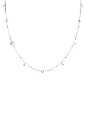 Elli Halskette Solitär Sterne Swarovski® Kristalle 925 Silber
