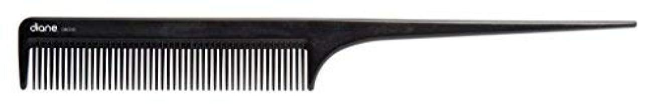王位連続的もつれDiane Ionic DBC043 Anti-Static Rat Tail Comb, Black [並行輸入品]