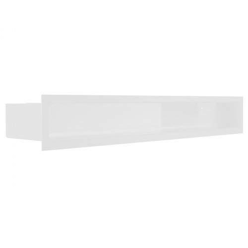 Luftleiste Luft-Schlitz mit Hinterblende Weiss Ofen Kaminofen Kamin Heizeinsatz Auswahl Größe 6x60w
