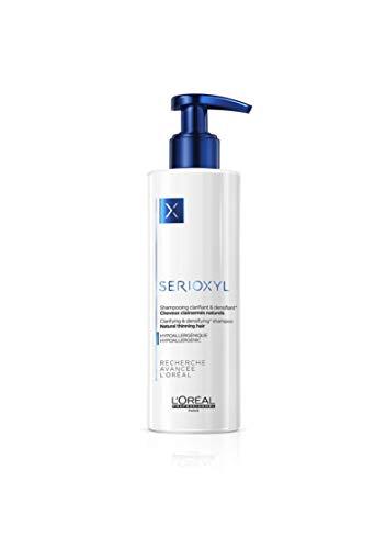 L'Oréal Professionnel Paris Serioxyl Shampoo für Naturhaar, reinigendes & kräftigendes Shampoo für natürliches Haar, dünner werdendes Haar, 250 ml