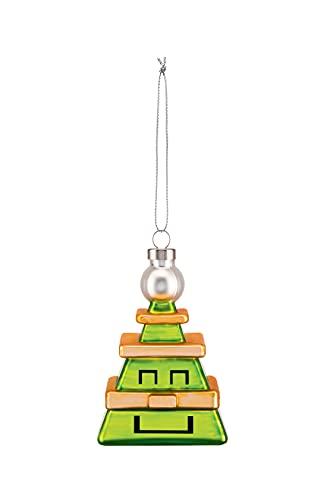 Alessi Arbre en Forme de cubik Decorazione Natale, Verre, Multicolore, Taille Unique