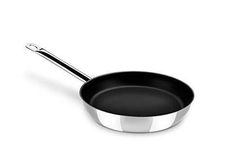 Monix Chef Non-Stick - Sartén 18 cm acero inoxidable 18 10 con antiadherente, apta para todo tipo de cocinas incluida inducción
