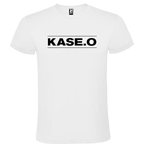 Camiseta con Logotipo de Kase.o para Hombre Blanca 100% Algodón Tallas S M L XL XXL Mangas Cortas (XL)