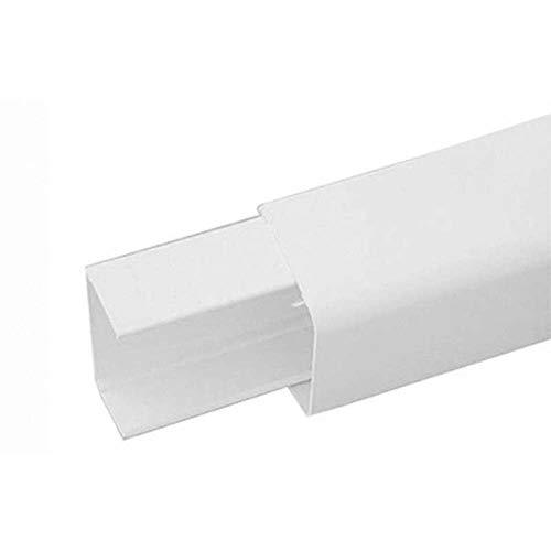 CANALINA PVC CON BASE E COPERCHIO IMPIANTI DI CLIMATIZZAZIONE 110x75 Lung 2 mt